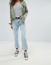 7 For All Mankind Cropped Boot Kick Bleach Jeans afbeelding