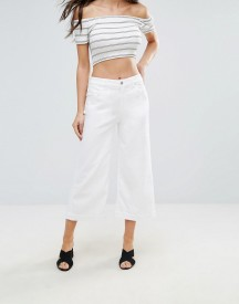 7 For All Mankind Cropped Flared White Jeans afbeelding