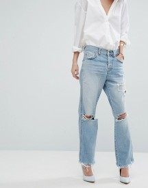 7 For All Mankind Jared Rigid Boyfriend Jean With Rips afbeelding