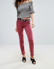 7 For All Mankind Roxanne Mid Rise Red Skinny Jeans afbeelding