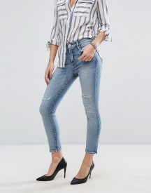 Agolde Sophie Crop Jean With Rips afbeelding
