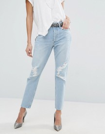 Agolde Jamie Hi Rise Straight Jean With Rips afbeelding