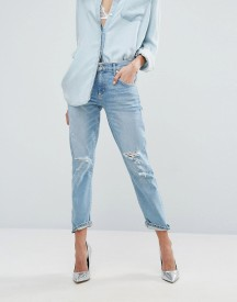 Agolde Isabel Slim Fit Boyfriend Jean With Rips afbeelding