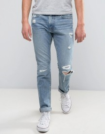 Abercrombie & Fitch Skinny Jean In Light Distressed Wash With Rips afbeelding