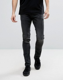 Allsaints Jeans In Skinny Fit Black With Aged Knee afbeelding
