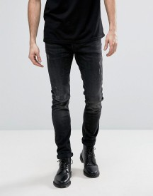 Allsaints Jeans In Skinny Fit Black With Distressing afbeelding