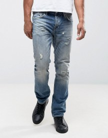 Allsaints Slim Fit Jeans With Heavy Distress afbeelding