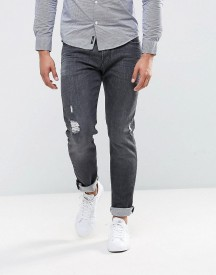 Armani Jeans J06 Slim Fit Stretch Grey Distressed Jeans afbeelding