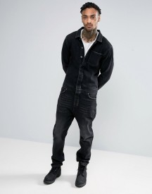 Asos Boiler Suit With Abrasions In Black afbeelding