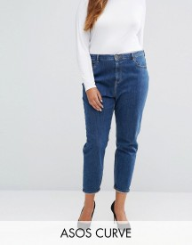 Asos Curve Farleigh Mom Jean In Courtney Flat Blue afbeelding