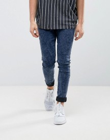 Asos Extreme Super Skinny Jeans In Dark Blue Acid afbeelding
