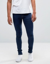 Asos Extreme Super Skinny Jeans In Raw Blue afbeelding