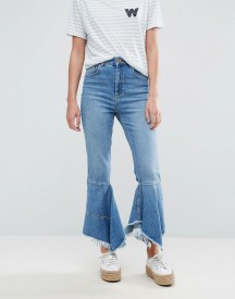 Asos Farleigh High Waist Slim Mom Jeans With Waterfall Hem afbeelding