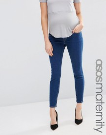 Asos Maternity Ridley Skinny Jean In Kioshi Wash With Over The Bump Waistband afbeelding