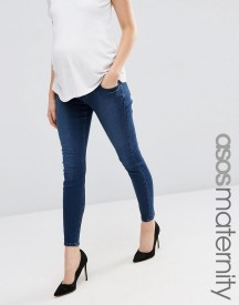 Asos Maternity Ridley Skinny Jean In Minx Wash With Under The Bump Waistband afbeelding