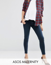 Asos Maternity Ridley Skinny Jeans In Vivienne Wash With Under The Bump Waistband afbeelding