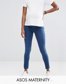 Asos Maternity Rivington Jegging In Amelia Dark Blue Wash With Under The Bump Waistband afbeelding