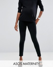 Asos Maternity Rivington Jegging In Washed Black Cord With Under The Bump Waistband afbeelding