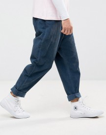 Asos Oversized Tapered Cords In Blue afbeelding