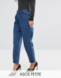 Asos Petite Denim Chino In Dark Stonewash afbeelding