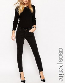 Asos Petite Pencil Straight Leg Jeans In Washed Black afbeelding