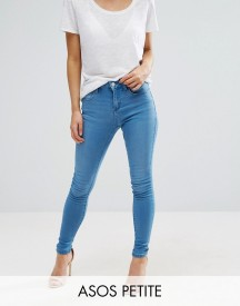 Asos Petite Sculpt Me Premium Jeans In Kelly Bright Blue Wash afbeelding