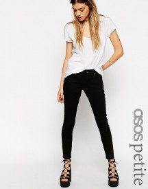 Asos Petite Whitby Low Rise Skinny Ankle Grazer Jeans In Clean Black afbeelding