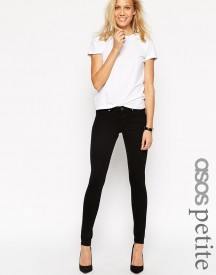 Asos Petite Whitby Low Rise Skinny Jeans In Clean Black afbeelding