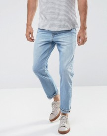 Asos Recycled Denim Slim Jeans In Vintage Light Wash Blue afbeelding