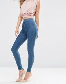 Asos Rivington High Waist Denim Jeggings In Brody Blue Wash afbeelding