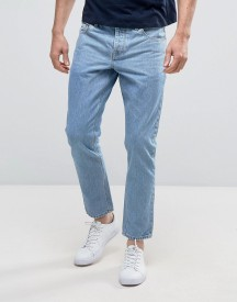 Asos Slim Ankle Grazer Jeans In Light Wash afbeelding