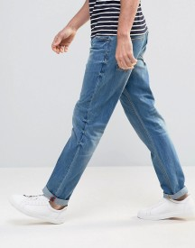 Asos Slim Jeans In Mid Wash Blue afbeelding