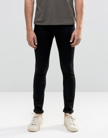 Asos Spray On Jeans In Black afbeelding