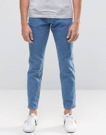 Asos Stretch Slim Ankle Grazer Jeans Retro Mid Wash afbeelding