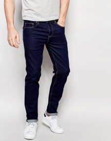 Asos Stretch Slim Jeans In 12.5 Oz Dark Blue afbeelding