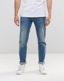 Asos Stretch Slim Jeans In 12.5oz In Light Blue Wash afbeelding