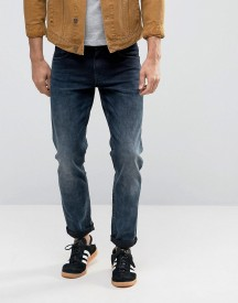 Asos Stretch Slim Jeans In Blue Black Wash afbeelding