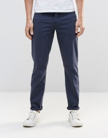 Asos Stretch Slim Jeans In Dark Blue afbeelding