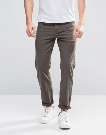 Asos Stretch Slim Jeans In Khaki afbeelding