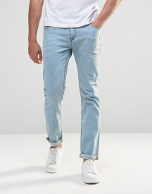 Asos Stretch Slim Jeans In Light Wash afbeelding