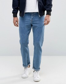 Asos Stretch Slim Jeans In Mid Blue afbeelding