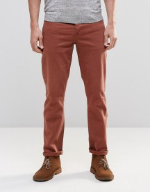 Asos Stretch Slim Jeans In Rust afbeelding