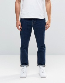 Asos Tapered Jeans In Raw Blue afbeelding