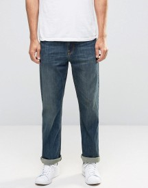 Asos Stretch Straight Jeans In Dirty Blue Wash afbeelding