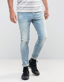 Asos Super Skinny Jeans In 12.5oz Light Wash Blue afbeelding