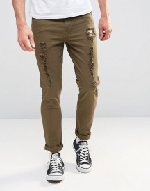Asos Super Skinny Jeans With Heavy Rips afbeelding