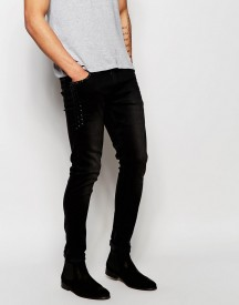 Asos Super Skinny Jeans With Stud Detail Pockets afbeelding