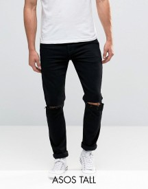 Asos Tall Skinny Jeans With Knee Rips afbeelding