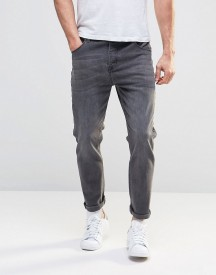 Asos Tapered Jeans In Mid Grey afbeelding