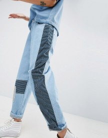 Asos White Patchwork Jeans In Multi Tonal Wash afbeelding